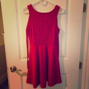 A red formal dress